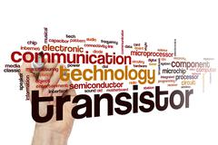 Transistor word cloud - stock photo