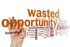 Stock Photo of Wasted opportunity word cloud