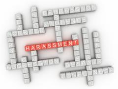 3d image Harassment issues concept word cloud background Stock Illustration