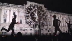 Fete des Lumieres, Lights Festival, Lyon, France with sound Stock Footage