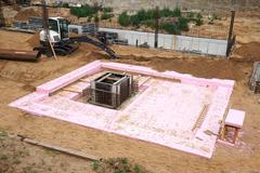 foundation pit - stock photo