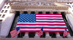 Wall Street New York Stock Exchange Building NYSE 4K Stock Footage