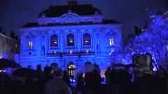 Light Festival, Lyon, France Stock Footage