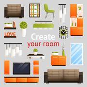 Stock Illustration of Furniture Objects Set