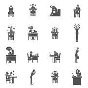 Frustration Icons Set Stock Illustration