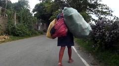 Street Beggar Stock Footage