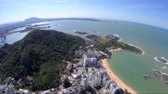 Timelapse of Praia da Costa (Costa Beach) in Espirito Santo, Brazil Stock Footage