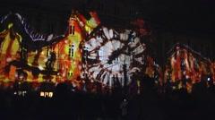 Light Animation Festival, Lyon, France Stock Footage
