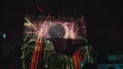 Projected Animation on St Jean Cathedral, Lyon, France Stock Footage