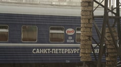 Russia.Moscow - 2013: Railway Terminal - stock footage