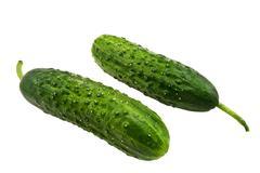 Two cucumbers - stock photo
