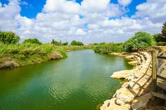 Nahal Alexander Nature Reserve - stock photo