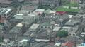 Aerial View Of Tokyo Residental Neighborhood Pan 4k or 4k+ Resolution