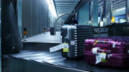 Stock Video Footage of Time lapse baggage arrives at airport 4K