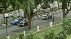Traffic in Singapore - River Valley Road Stock Footage