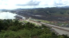 Panama Canal Pacific View Stock Footage
