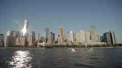 New-York city air view 2 Stock Footage