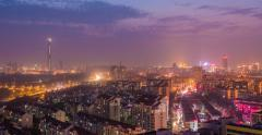 4K Day to Night Time Lapse China Cityscape Stock Footage