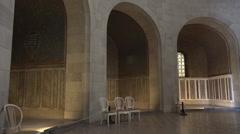 Ancient christian Mausoleum building indoor tilt up cupola Stock Footage