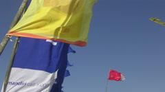 Bali Kite Festival Flags  4K Stock Footage