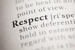 Respect - stock photo