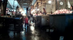 Unhygienic Chicken Stall Stock Footage