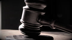 Judge's Gavel (Modified) Stock Footage
