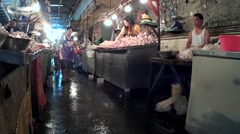 Unhygienic Chicken Stall - stock footage