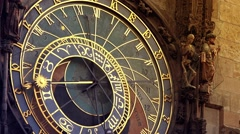 Prague Astronomical Clock - stock footage