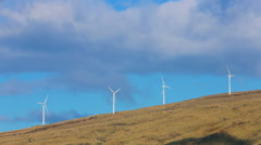 Stock Video Footage of Wind turbines producing clean alternative energy
