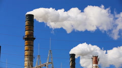 Polluting factory - stock footage