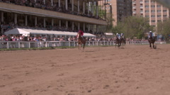 Moscow,Russia, Central Moscow Hippodrome,MAY 2015,racing of thoroughbred horses Stock Footage