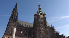 Prague Saint Vitus Gothic Cathedral Stock Footage