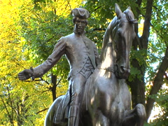 Boston paul revere statue Stock Footage