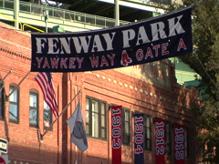 Boston Fenway Park exterior sign Arkistovideo