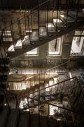 Concrete stairs in an abandoned building Stock Photos