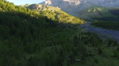 Mountains near lake Derborence, Valais, Switzerland Stock Footage