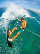 Extreme Sport, Kiteboarding Stock Photos