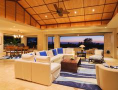 Living Room in Luxury Home Stock Photos