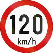 Speed Limit 120 In Ireland - stock illustration