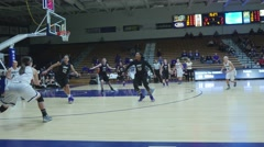 Ladies Collegiate Basketball 4K Stock Footage