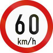Speed Limit 60 In Ireland - stock illustration
