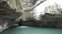 Cave Waterfall in Arkansas - stock footage