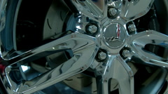 Stock Video Footage of 2015 Corvette Chrome Tire Wheel