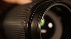 Focusing a Camera Lens Stock Footage