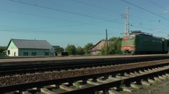 A passing train (no sound) Stock Footage