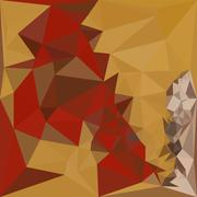 Stock Illustration of Red Ginger Abstract Low Polygon Background