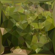 Olive Green Abstract Low Polygon Background - stock illustration