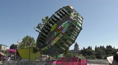Tilt-A-Whirl Type Ride - stock footage
