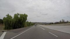 Rear View Suburban Freeway Time Lapse Stock Footage